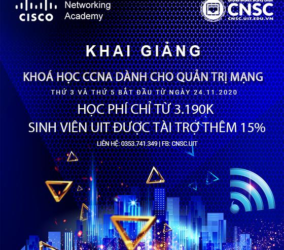 Khai giảng các lớp CCNA – Học viện mạng Cisco CNSC vào 24/11/2020